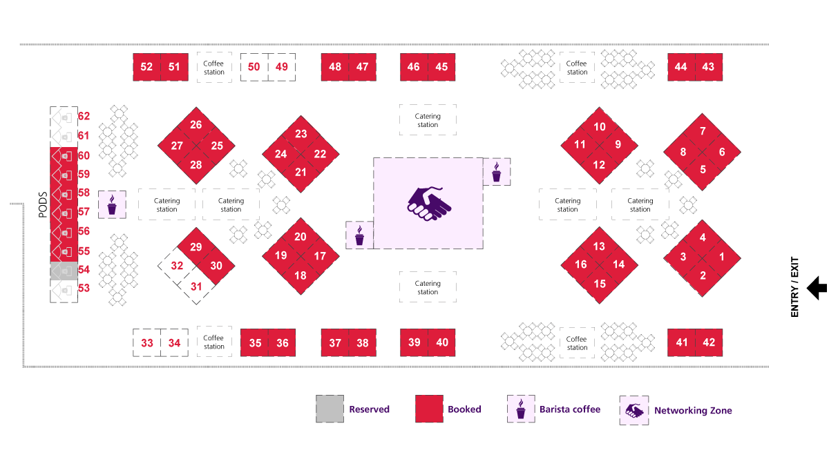 2019 ASFA Conference Super Expo floor plan
