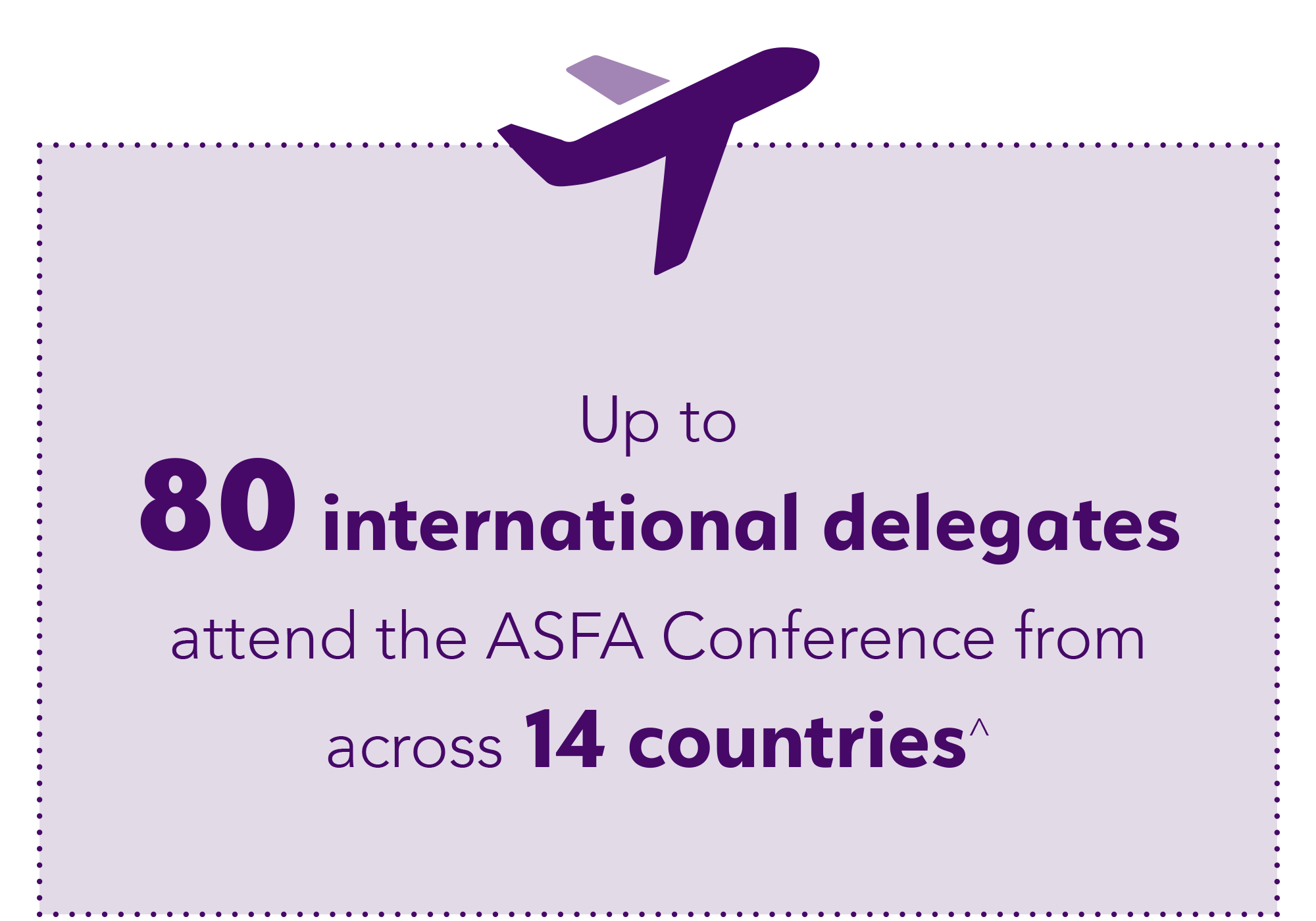 Over 95% of ASFA Conference delegates agress the conference met or exceeded their expectations