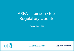 ASFA TG Update September 2016