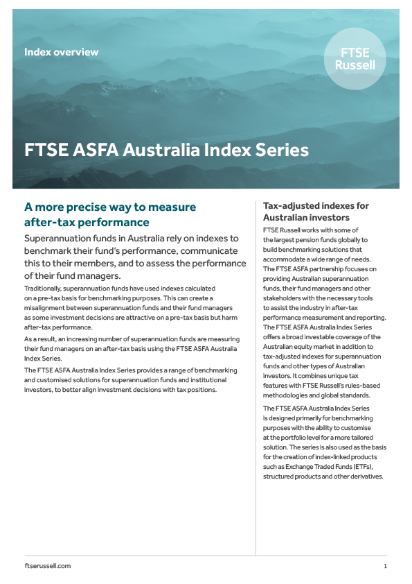 Download FTSE ASFA Brochure
